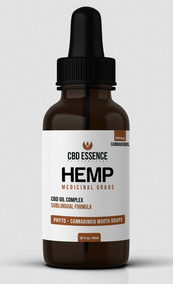 Hemp Oil bottle from CDB Essense
